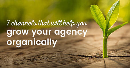 7 channels that will help you grow your agency organically
