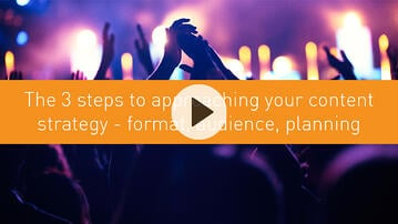 The 3 steps to approaching your content strategy - format, audience, planning