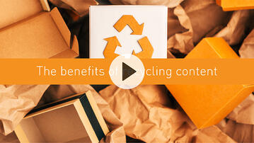 The benefits of recycling content