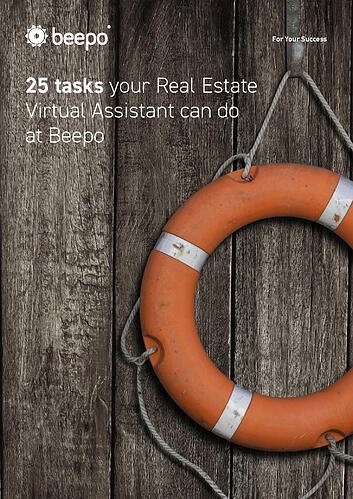 25 Tasks your Real Estate Virtual Assistant can do at Beepo resource ebook cover Beepo