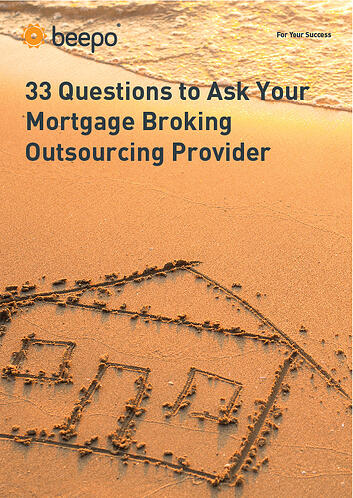 33 Questions to Ask Your Real Estate Outsourcing Provider resource ebook cover Beepo