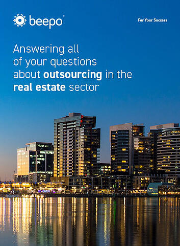 Answering all of your questions about outsourcing in the real estate sector resource ebook cover Beepo