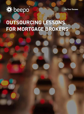 Outsourcing lessons for mortgage brokers resource eBook cover Beepo