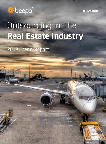 Outsourcing in the Real Estate Industry 2019 Trend Report resource ebook cover Beepo