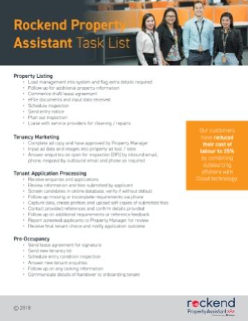 Rockend Property Assistant TaskList