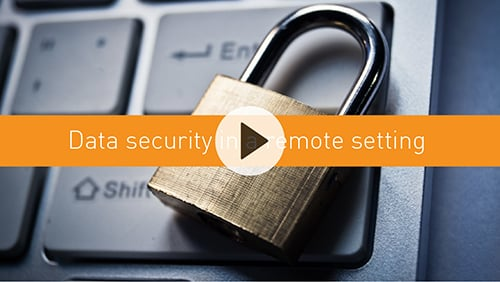 Data security in a remote setting