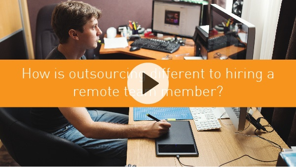 How is outsourcing different to hiring a remote team member?