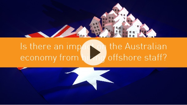 Is there an impact on the Australian economy from hiring offshore staff?