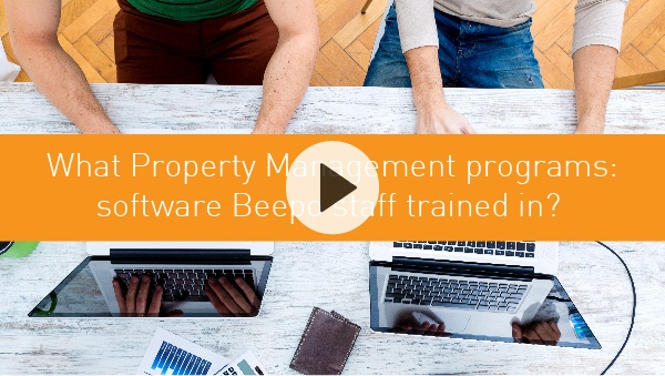 What Property Management programs are Beepo staff trained in?