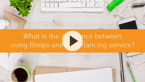 What is the difference between using Beepo and a freelancing service?