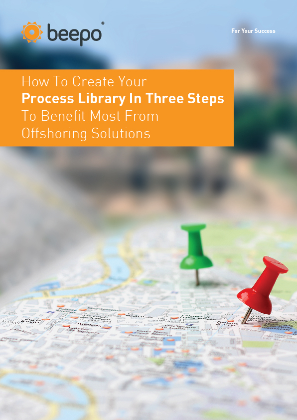 How To Create Your Process Library In Three Steps To Benefit Most From Offshoring Solutions resource education series pt2 cover Beepo