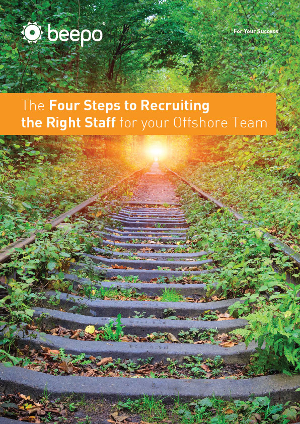 The Four Steps to Recruiting the Right Staff for your Offshore Team resource education series Part 3 Beepo cover