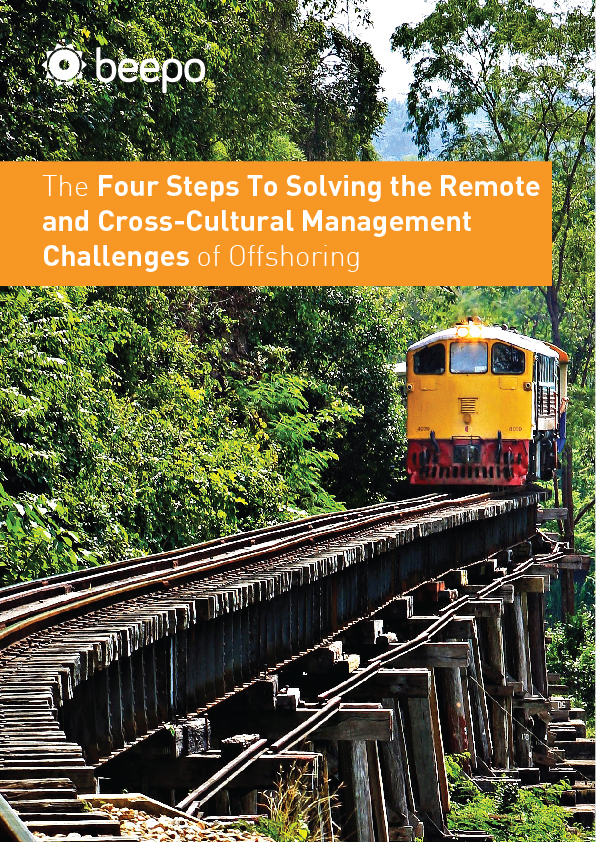 The Four Steps To Solving the Remote and Cross-Cultural Management Challenges of Offshoring resource education series pt5 cover Beepo