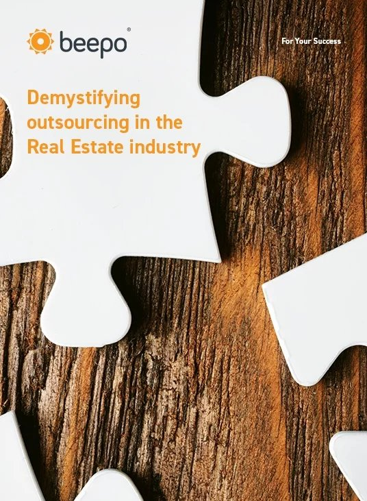 Demystifying outsourcing in the Real Estate industry resource ebook cover Beepo