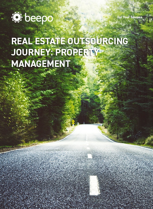 Real Estate Outsourcing Journey: Property Management resource eBook cover Beepo