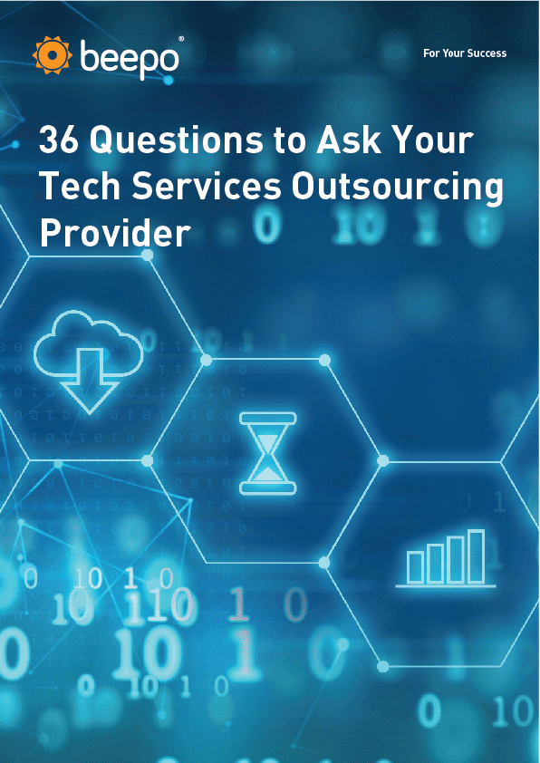 Beepo's 36 Questions to Ask Your Tech Services Outsourcing Provider resource eBook