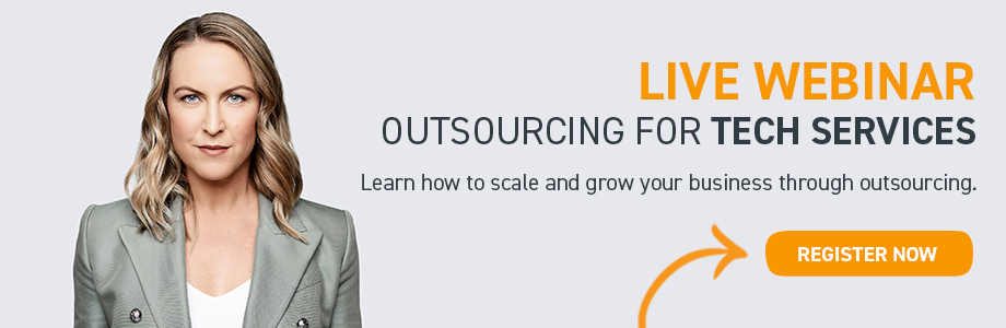 Live Webinar for Tech Services Learn to Scale and Grow with Outsourcing