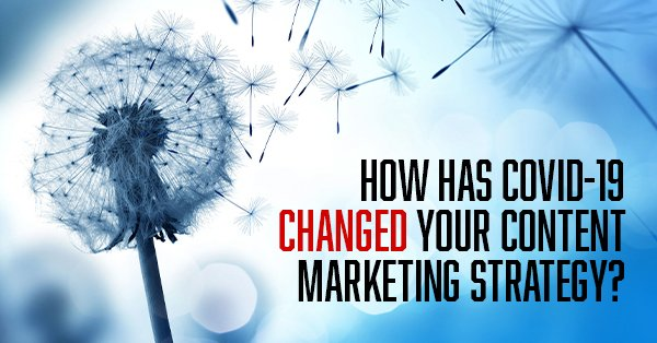 How has COVID-19 changed your content marketing strategy?