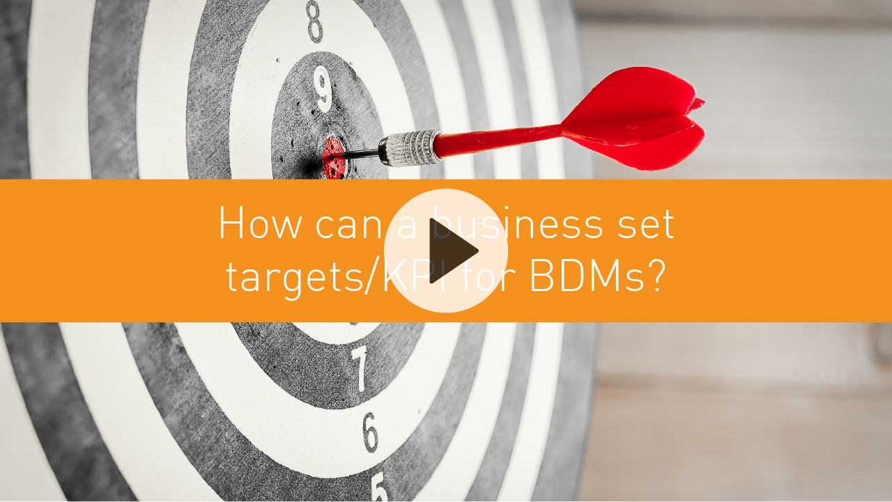 How can a business set targets/KPI for BDMs?