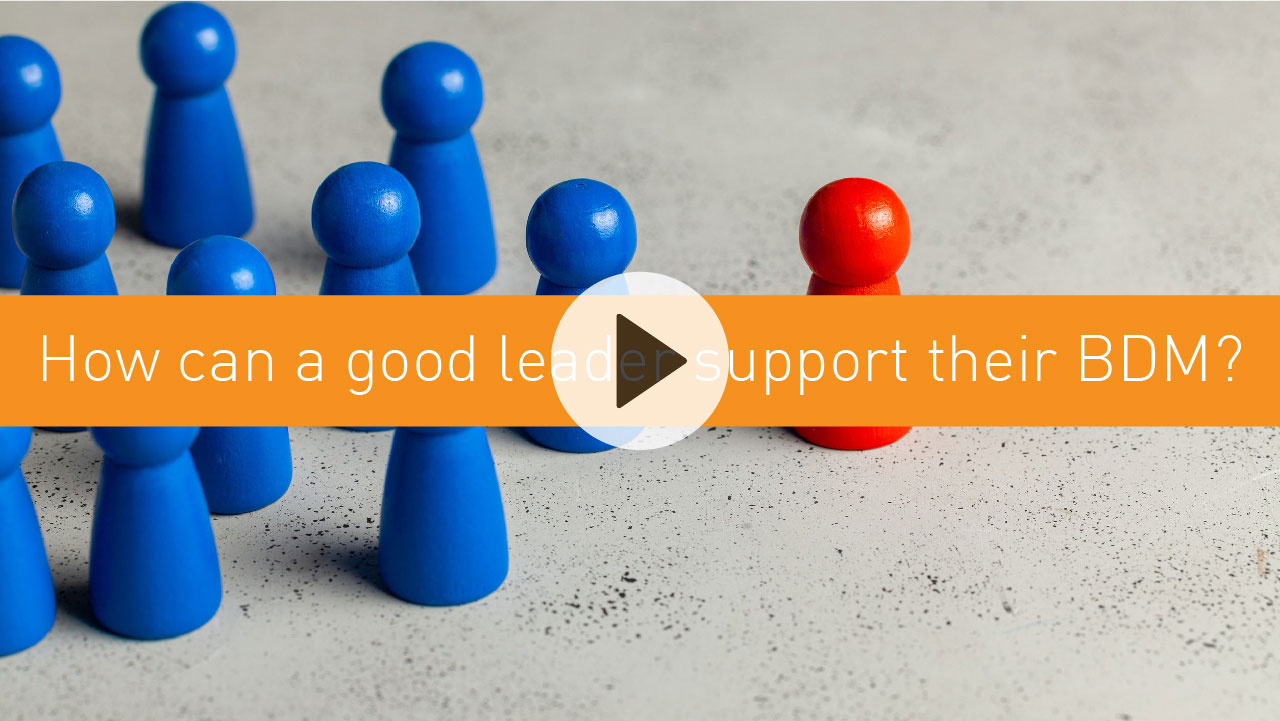 How can a good leader support their BDM?