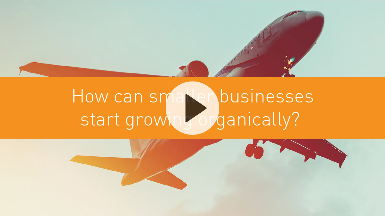 How can smaller businesses start growing organically?