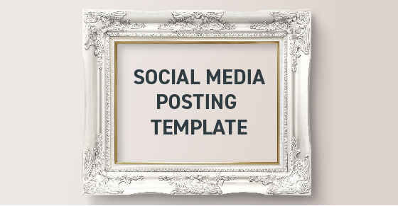 Social media posting template